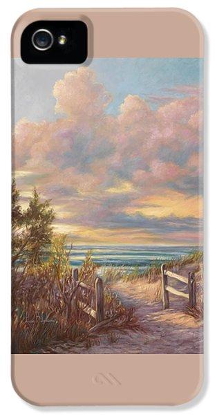 Beach Sunset iPhone 5 Case - Beach Walk by Lucie Bilodeau