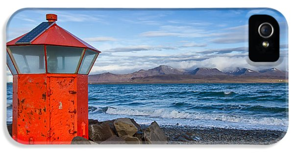 Beacon At Hvaleyrarviti In Iceland IPhone 5 Case by Andres Leon