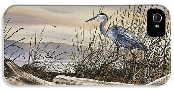 Heron iPhone 5 Case - Beauty Along The Shore by James Williamson