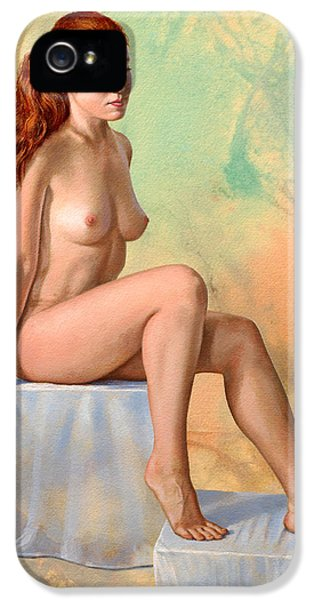 Nudes iPhone 5 Case - Becca 014 In Abstract by Paul Krapf