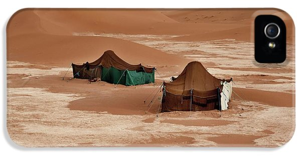 Bedouin Tents And Sand Dunes IPhone 5 Case by Jon Wilson