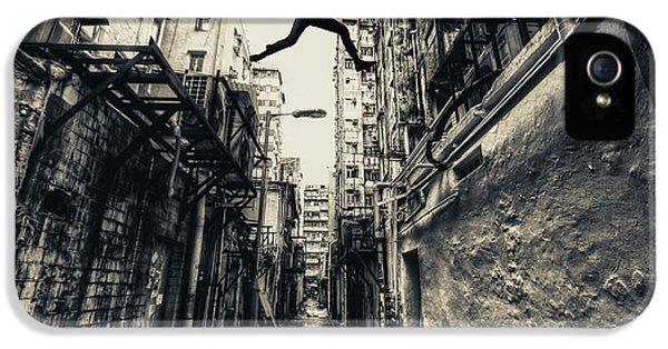 Hong Kong iPhone 5 Case - Behind Street by Junites Uno