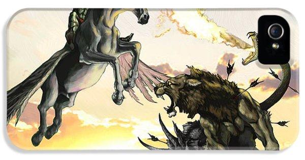 Pegasus iPhone 5 Case - Bellephron Slays Chimera by Matt Kedzierski