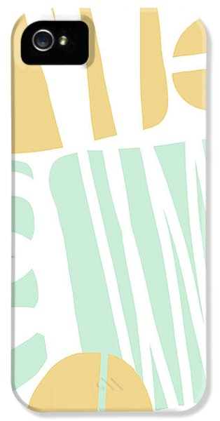 Bento 1- Abstract Shape Painting IPhone 5 Case by Linda Woods