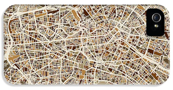 Berlin Germany Street Map IPhone 5 Case by Michael Tompsett