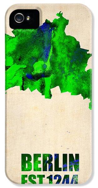 Berlin Watercolor Map IPhone 5 / 5s Case by Naxart Studio
