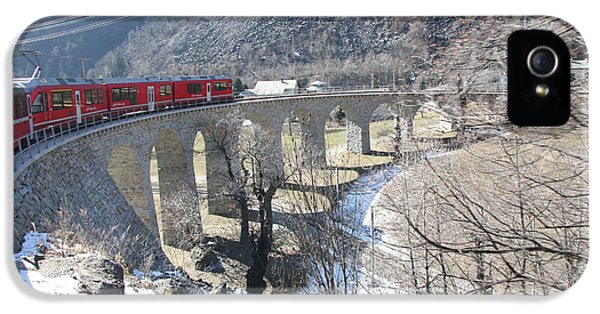 Bernina Express In Winter IPhone 5 Case by Travel Pics