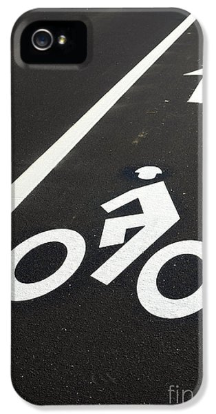 Bicycle iPhone 5 Case - Bicycle Lane by Olivier Le Queinec