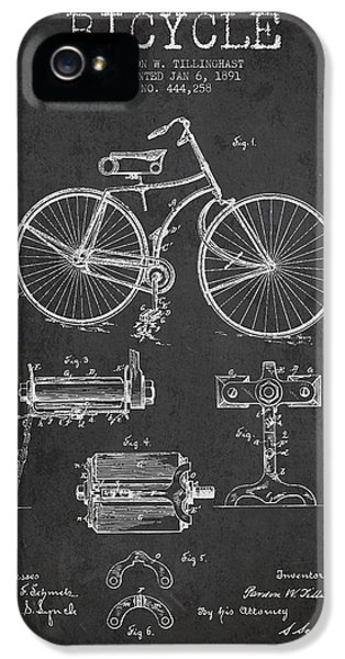 Bicycle iPhone 5 Case - Bicycle Patent Drawing From 1891 by Aged Pixel
