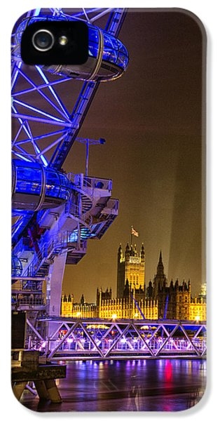Big Ben And The London Eye IPhone 5 Case by Ian Hufton