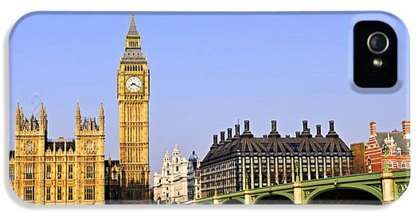 Big Ben And Westminster Bridge IPhone 5 Case by Elena Elisseeva