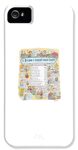 'big Book Of Parent-child Fights' IPhone 5 Case by Roz Chast