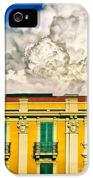 IPhone 5 Case featuring the photograph Big Cloud Over City Building by Silvia Ganora