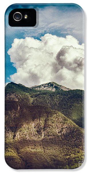 Big Clouds Over The Alps IPhone 5 Case by Silvia Ganora