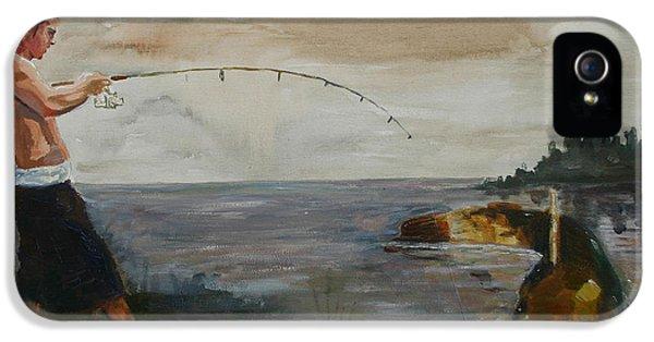 Catfish iPhone 5 Case - Big Fish by Tom Dauria