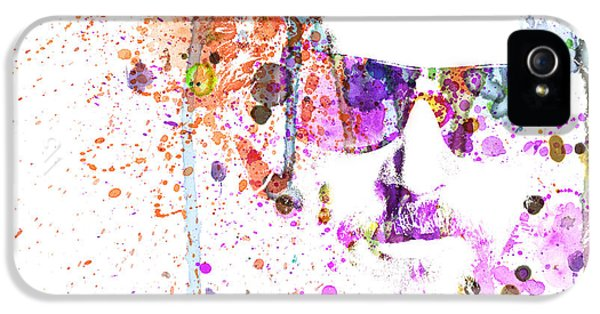 Big Lebowski Watercolor 1 IPhone 5 Case