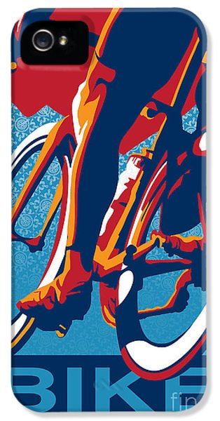 Bicycle iPhone 5 Case - Bike Hard by Sassan Filsoof