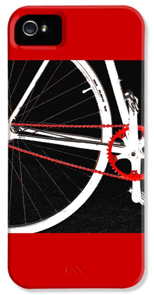 Bicycle iPhone 5 Case - Bike In Black White And Red No 2 by Ben and Raisa Gertsberg