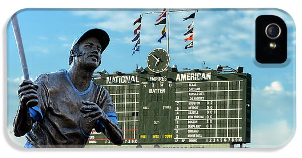 Billy Williams Chicago Cub Statue IPhone 5 Case by Thomas Woolworth