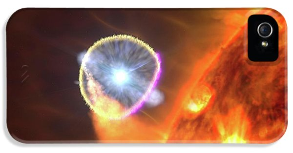 Binary Star System Nova IPhone 5 Case by Nasa's Goddard Space Flight Center/s. Wiessinger