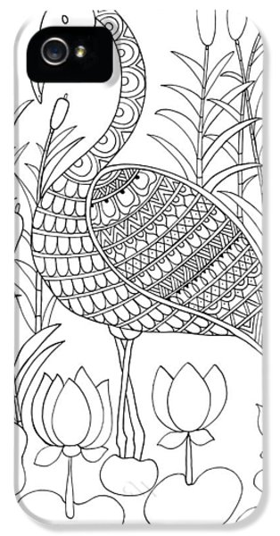 Bird Flamingo IPhone 5 Case by Neeti Goswami