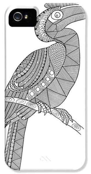 Hornbill iPhone 5 Case - Bird Hornbill by Neeti Goswami