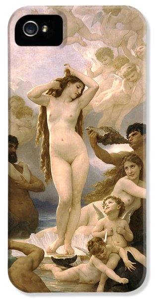 Birth Of Venus IPhone 5 / 5s Case by William Bouguereau