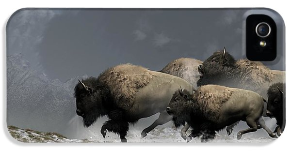 Bison Stampede IPhone 5 / 5s Case by Daniel Eskridge