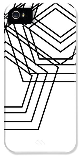 Black And White Geo IPhone 5 Case by South Social Studio