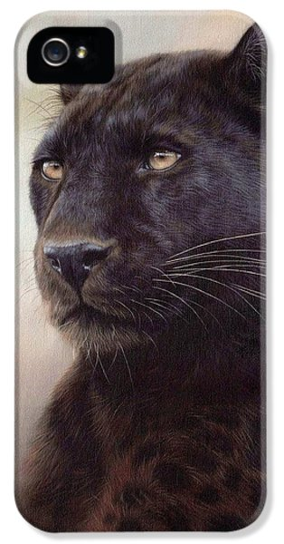 Black Leopard Painting IPhone 5 Case