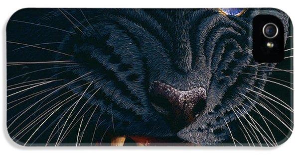Panther iPhone 5 Case - Black Panther 2 by Jurek Zamoyski