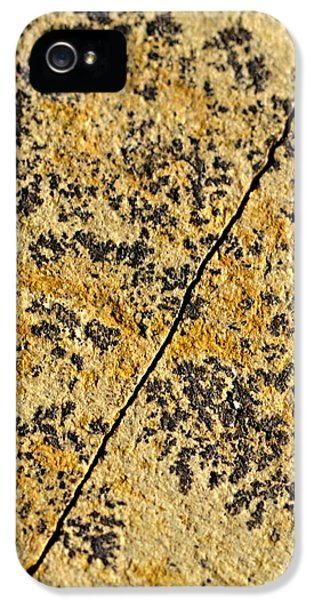 Black Patterns On The Sandstone IPhone 5 Case