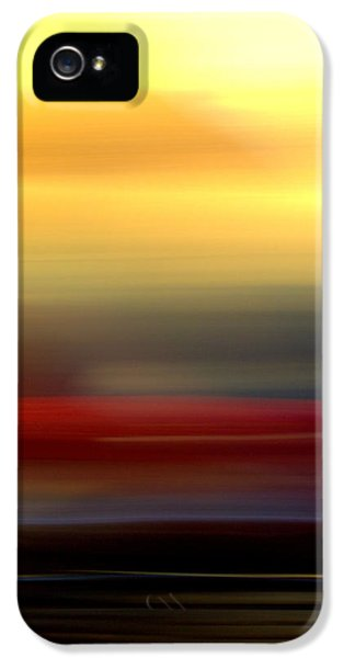 Black Red Yellow IPhone 5 Case by Terence Morrissey