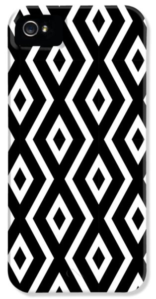 Black And White Pattern IPhone 5 Case by Christina Rollo