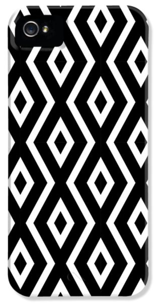 Beach iPhone 5 Case - Black And White Pattern by Christina Rollo