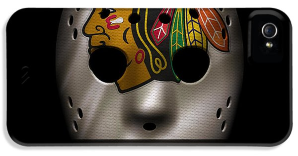 Blackhawks Jersey Mask IPhone 5 Case by Joe Hamilton