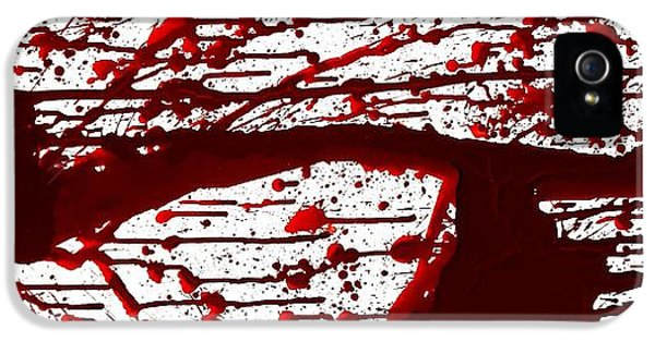 Blood Spatter Series IPhone 5 Case by Holly Anderson