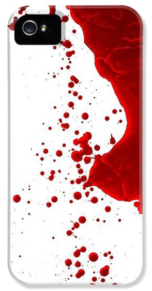Blood Splatter  IPhone 5 Case by Holly Anderson