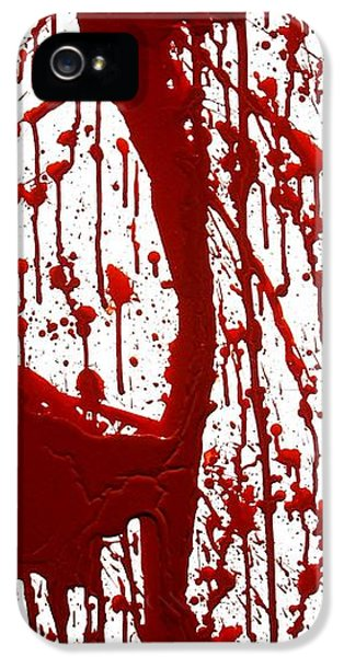 Blood Splatter II IPhone 5 Case by Holly Anderson