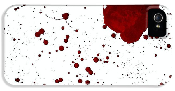 blood splatter PANCHAKARMA IPhone 5 Case by Holly Anderson