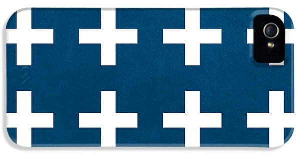 Blue And White Plus Sign IPhone 5 Case