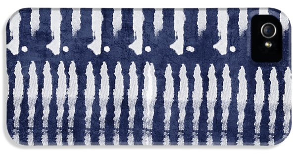 Blue And White Shibori Design IPhone 5 Case by Linda Woods