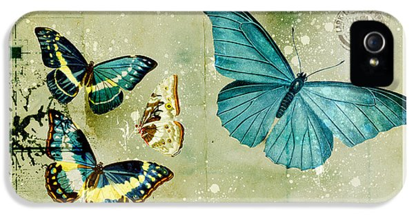 Blue Butterfly - S55c01 IPhone 5 Case