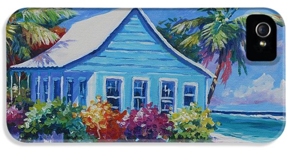 Blue Cottage On The Beach IPhone 5 / 5s Case by John Clark
