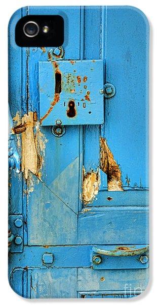 Blue Door Blues IPhone 5 Case by Olivier Le Queinec