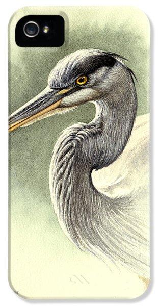 Heron iPhone 5 Case - Blue Heron   by Paul Krapf