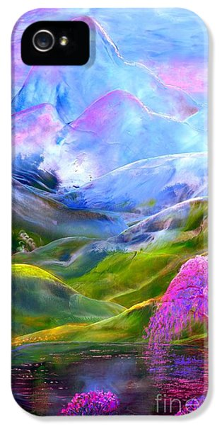 Orchid iPhone 5 Case - Blue Mountain Pool by Jane Small
