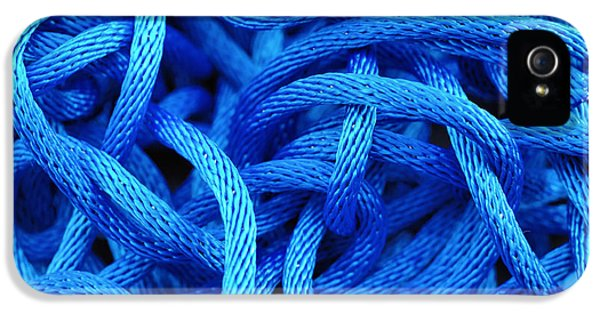 Blue Rope IPhone 5 Case by Chevy Fleet