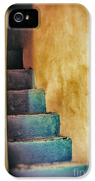 Blue Stairs - Yellow Wall    IPhone 5 Case by Silvia Ganora