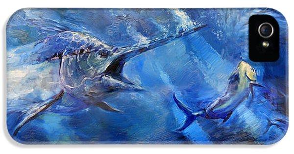 Swordfish iPhone 5 Case - Blues by Tom Dauria
